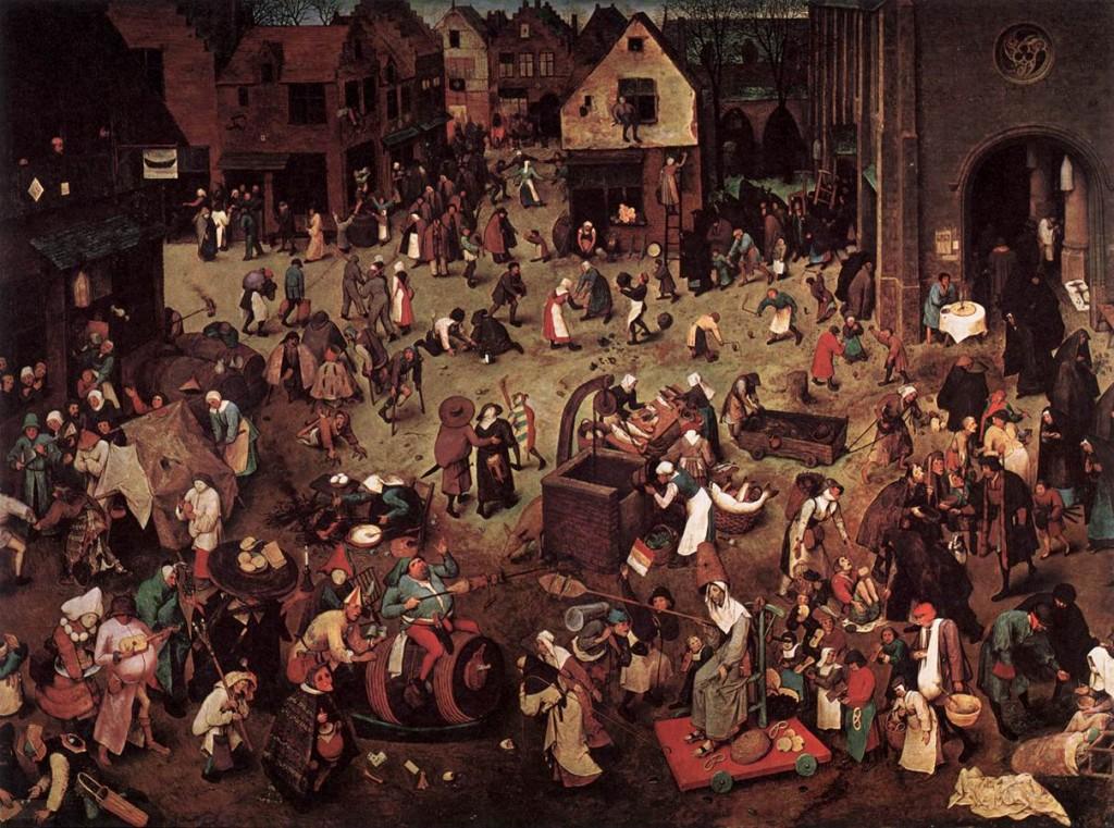 Pieter BRUEGHEL, « bataille du carnaval », Musées Royaux des Beaux-Arts, Bruxelles, (sources : WGA)