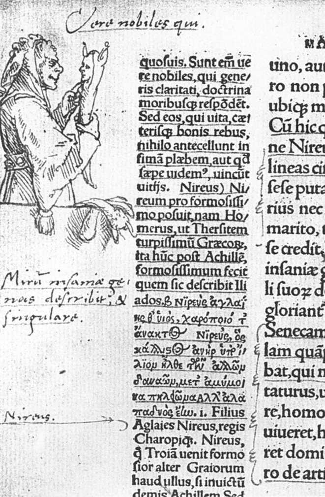 Hans Holbein le Jeune, Illustration marginale à l'Eloge de la folie d'Erasme, Kupferstichkabinett, Öffentliche Kunstsammlung, Basel, 1515 (source : wga)