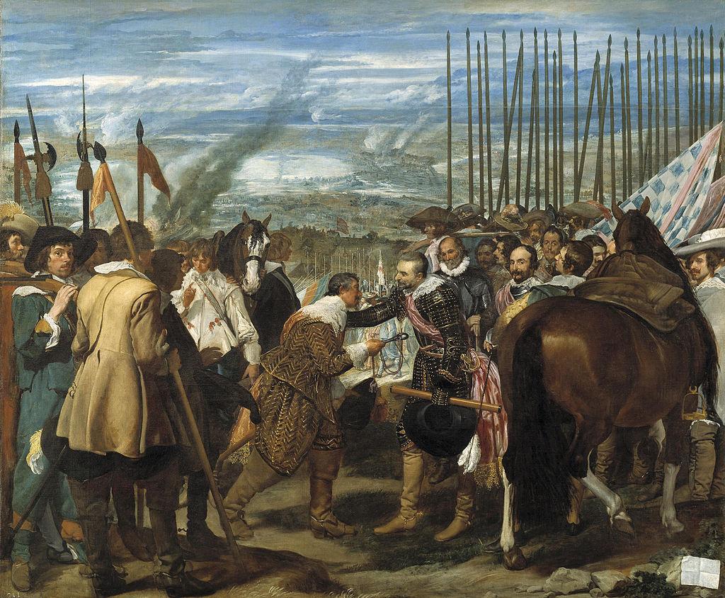 Velazquez, La reddition de Breda, 1634-1635, Musée du Prado. (Source : Wikipedia)