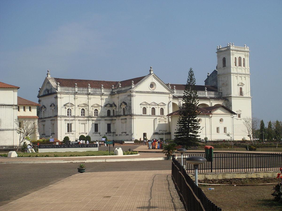cathédrale de Goa (Inde), deuxième moitié de XVIe siècle (source : wikicommons).
