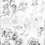 Jérôme Bosch, Etude de monstres, s. d. Ashmolean Museum, Oxford (source : wga)