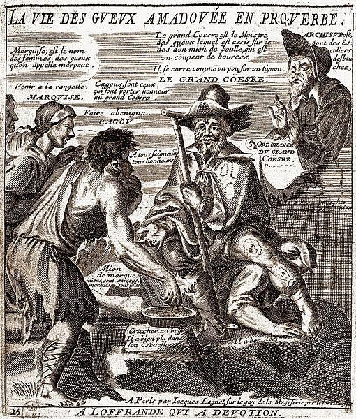 Lagniet, Recueil des plus illustres proverbes divisés en trois livres... le troisième des gueux en proverbes, Paris, c. 1657-1660 (source : Wikipedia)