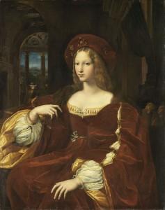 """Raffaello SANZIO, """"Giovanna d'Aragona"""", (vers 1518), Paris, Musée du Louvre (source : cliquez sur l'image)"""