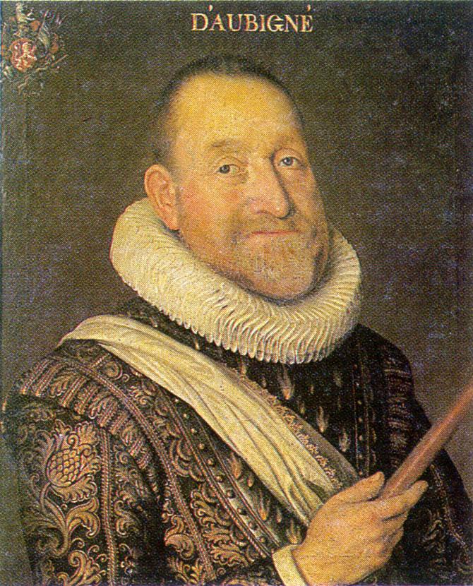 Portrait d'Agrippa d'Aubigné, 1622. (Source : Wikimedia Commons).
