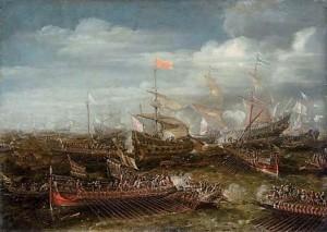 Andries van EERTVELT, La bataille de Lépante, v. 1629, collection privée (source : WGA)