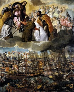 "Paolo VERONESE, ""Bataille de Lépante"", vers 1572, Gallerie dell'Accademia, Venise (source : Web Gallery of Art)"