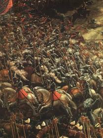 "Albrecht ALTDORFER, ""la bataille d'Alexandre"", 1529, Alte Pinakothek, Munich (source : WGA)"