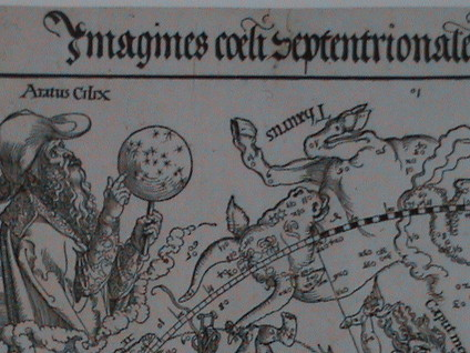 "Albrecht DÜRER, ""Imagines coeli septentrionales imaginibus cum duodecim zodiaci"", gravure sur bois, Paris, BNF, estampes."