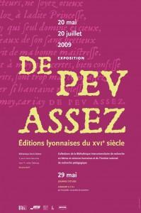 De peu assez, affiche de la journée d'étude (source : blog Hypothèses de Raphaëlle Bats : http://gryphe.hypotheses.org/55)