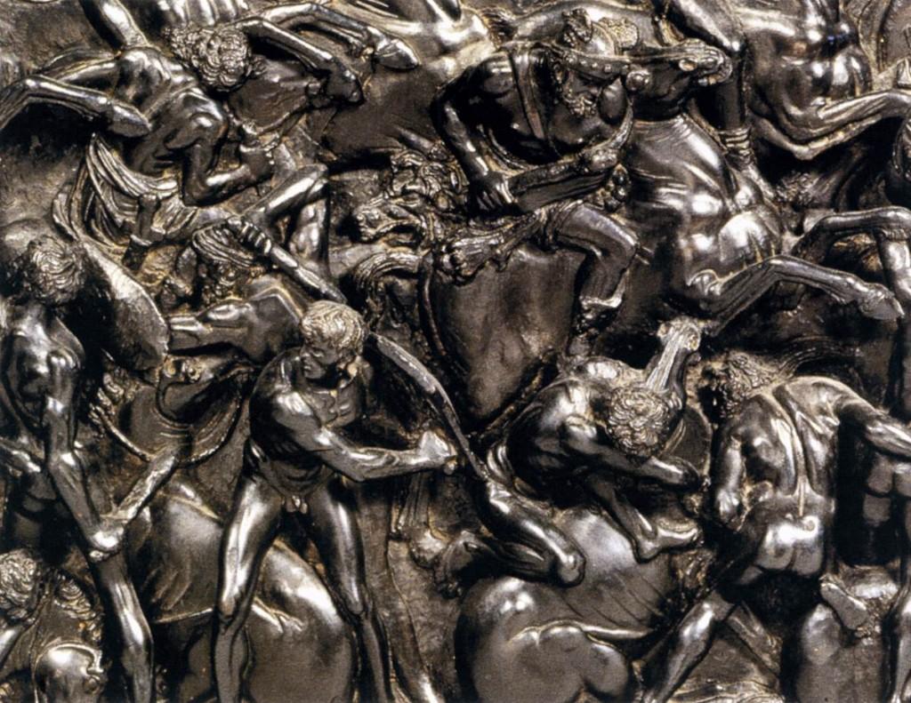 """BERTOLDO DI GIOVANNI, """"Bataille"""" (détail), après 1478, Bronze, Museo Nazionale del Bargello, Florence (source : WGA)"""