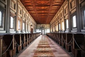 Michelangelo Buonarroti, Bibliothèque laurentienne, 1530, Biblioteca Medicea-Laurenziana, Florence (source : Web Gallery of Art)