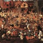 Pieter Brueghel l'Ancien, Combat de Carnaval et de Carême, Kunsthistorisches Museum, Vienne, 1559 (source : wga)