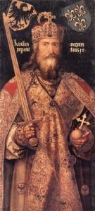 Albrecht DÜRER, L'Empereur Charlemagne, v. 1512, Germanisches Nationalmuseum, Nuremberg (source : WGA)