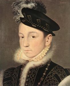 François CLOUET, Portrait du roi Charles IX de France 1561, Kunsthistorisches Museum, Vienne (source : WGA)