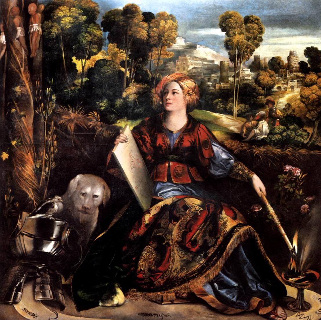 """Giovanni di Lutero, dit Dosso Dossi, """"Mélissa"""", (vers 1518), Rome, Galleria Borghese (source : WGA)."""