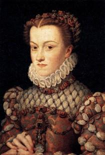CLOUET, François, Elisabeth d'Autriche, 1571 Huile sur toile, 36 x 26 cm Musée du Louvre, Paris (source : wga)
