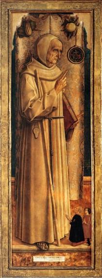 CRIVELLI, Carlo, Saint Jacques de la Marche, 1477, Bois, 198 x 64 cm Musée du Louvre, Paris (source: WGA)
