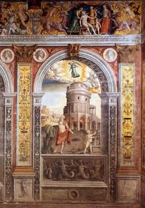 FALCONETTO, Giovanni Maria, Signe de la Vierge, 1515-20 Fresco Palazzo d'Arco, Mantoue (source : wga)