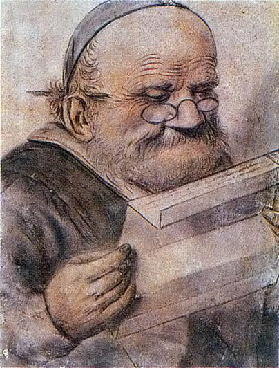 """""""François Rabelais lisant"""", dessin anonyme du début du XVIIe siècle, Musée Carnavalet, Paris (source : Wikimedia Commons)"""
