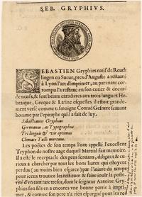 Gryphius, Sebastian [1493-1556, (source Europeana, repris sur le blog Hypothèses de Raphaëlle Bats)