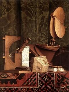 """Hans HOLBEIN le jeune, """"Les Ambassadeurs""""(détail), (1533), Londres, National Gallery (source : WGA)."""