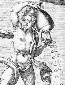 """Hug. Grotii Syntagma Arateorum"", Leiden, 1600 : ""Le Verseau"", illustration par Jacobus de Gheyn."