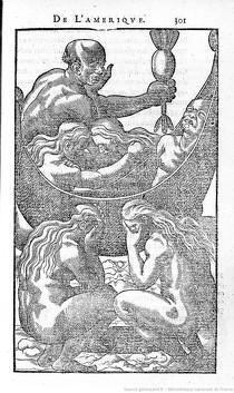 Illustrations de Histoire d'un voyage fait en la terre du Brésil autrement dite Amérique de Jean de Léry, Genève, Antoine Chuffin, 1580 (source : Gallica)