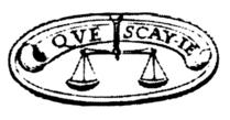 La balance avec sa devise sur le jeton de Montaigne (source : Wikipedia)