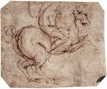 LEONARDO da Vinci, Le chevalier (étude), 1504, Gallerie dell'Accademia, Venise (Source : WGA)