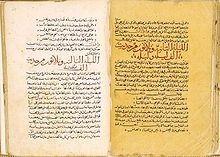 Les Mille et Une Nuits : photo de deux pages d'un manuscrit syrien du xive siècle. Bibliothèque nationale de France. (source: wikipédia)