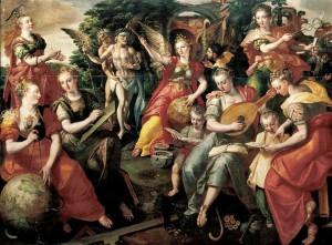 Marten de Vos, Allégorie des sept arts libéraux, 1590, collection privée (source : WGA)