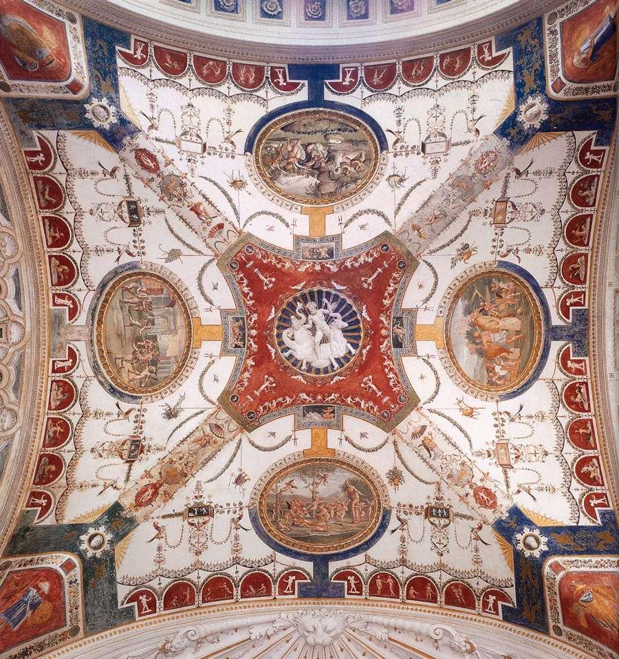 Giovanni da Udine, Décoration d'un plafond, Villa Madama, Rome 1520-21 (source : wga)