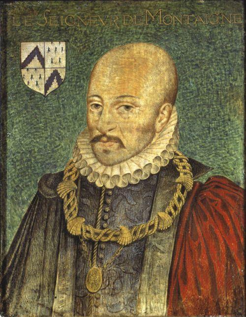 Portrait présumé de Montaigne par un auteur anonyme repris par Thomas de Leu pour orner l'édition des Essais de 1608 (source : Wikimedia Commons)