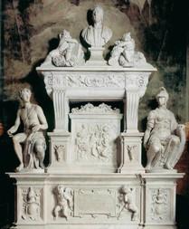 MONTORSOLI, Giovanni Angelo, Tombeau de Jacopo Sannazaro c. 1536, Marbre, Santa Maria del Parto, Naples (source : wga)