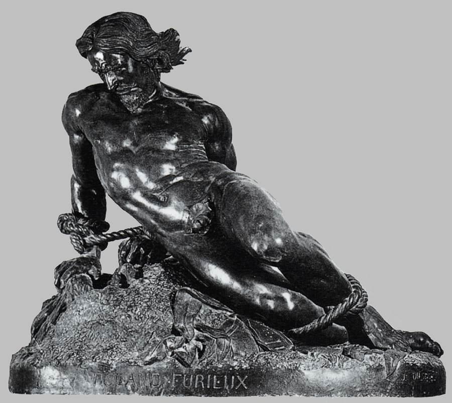 """Jehan DUSEIGNEUR, """"Orlando furioso"""" 1831-67, Bronze, Musée du Louvre, Paris (source : wga)"""