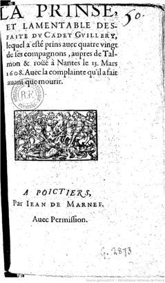 Page de titre de l'anonyme publié chez Jean de Marnef (source : Gallica)