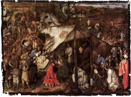 Pieter Brueghel l'Ancien, L'adoration des Mages, Musées Royaux des Beaux-Arts, Bruxelles, 1556-62 (source : wga)