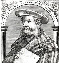 Portrait de Claude Ptolémée, XVIe siècle (source : Wikimedia Commons).