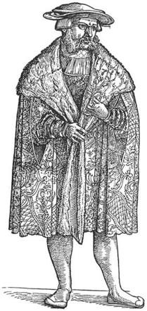 """Portrait de Leonhardt Fuchs, extrait de son """"De Historia stirpium"""" (1542), source : Wikipedia."""