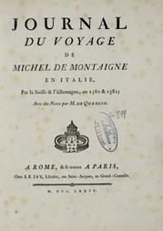 """Première édition du """"Journal du voyage"""", 1774 (source: BVH)"""