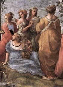 raphaël-le-parnasse-détail-1509-1510-vatican-chambre-de-la-signature-source-wga