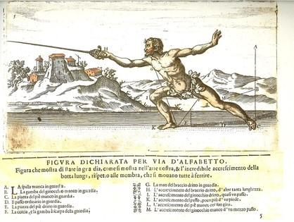 """Ridolfo Capoferro, """"Gran simulacro dell' arte, e dell' usa della Scherma"""", réédition Gérard Six, 2000, Collection particulière."""