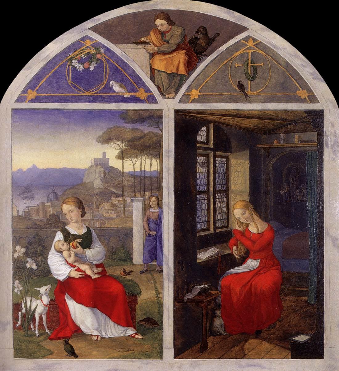 Franz Pforr, La Sulamite et Marie, coll. privée, 1810-11 (source : wga)
