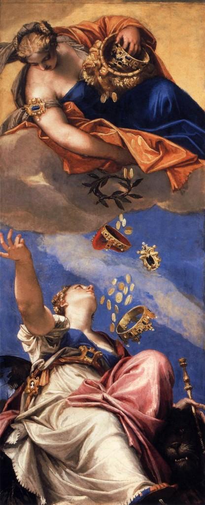VERONESE, « Junon déversant des dons sur Venise » (détail), 1554-56, Palazzo Ducale, Venise (source : WGA).