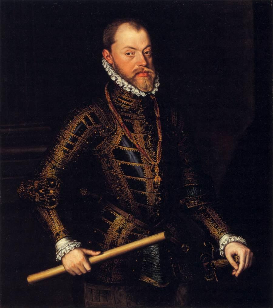 "Alonso SANCHEZ COELLO, ""Philippe II"", (années 1570), Glasgow, Pollok House (source : WGA)."