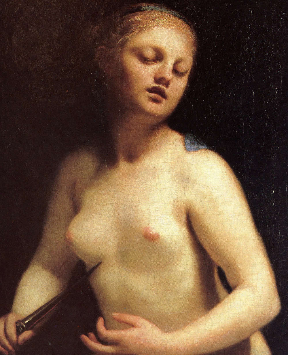 Guido Cagnacci, La mort de Lucrèce, vers 1660-1663, Lyon, Musée des Beaux-Arts.