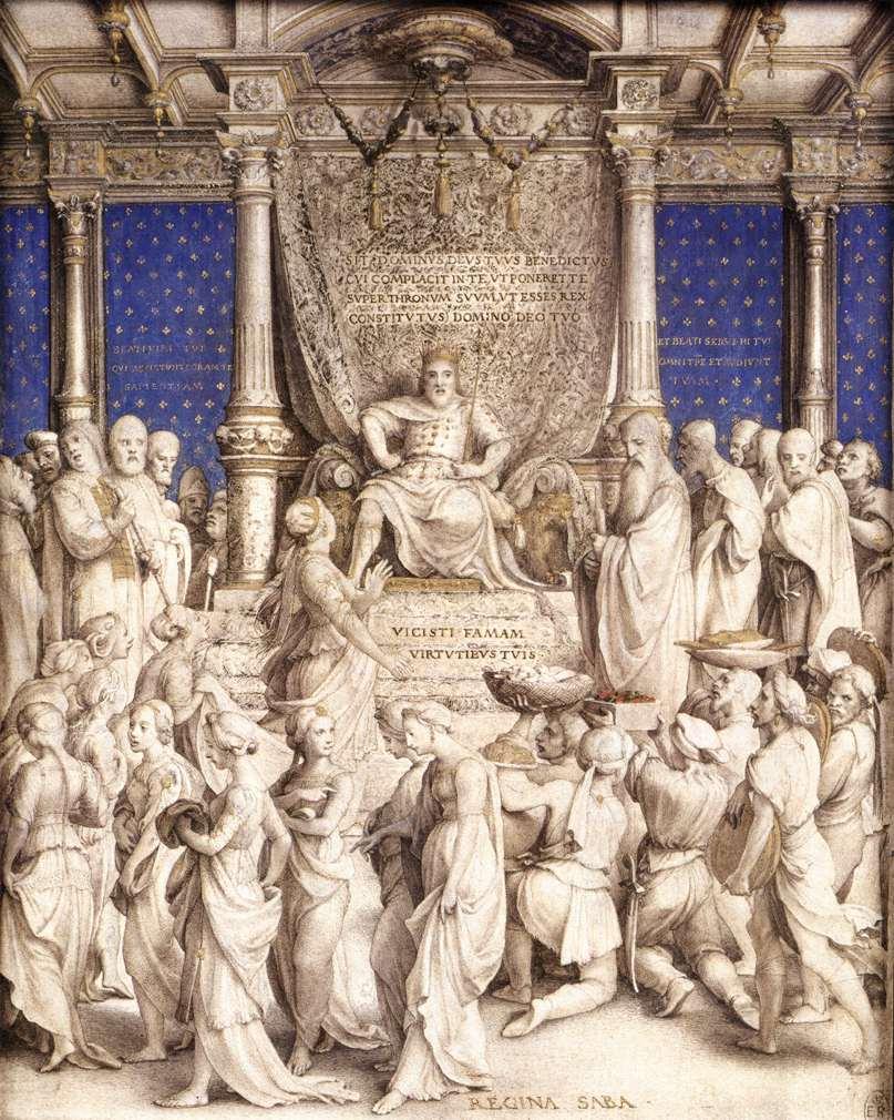 Hans Holbein le Jeune, Salomon et la reine de Saba, Royal Library, Windsor, 1534-35 (source : wga)