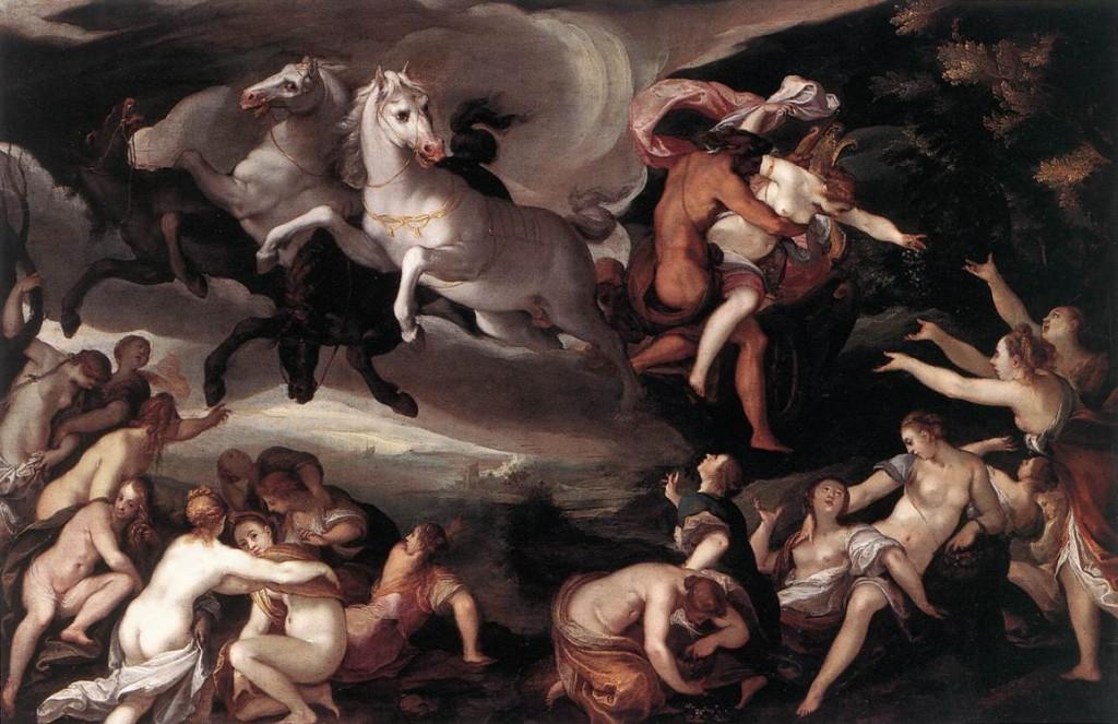 """Joseph Heintz l'Ancien, """"L'enlèvement de Proserpine"""", Gemäldegalerie, Dresden (source: WGA)."""