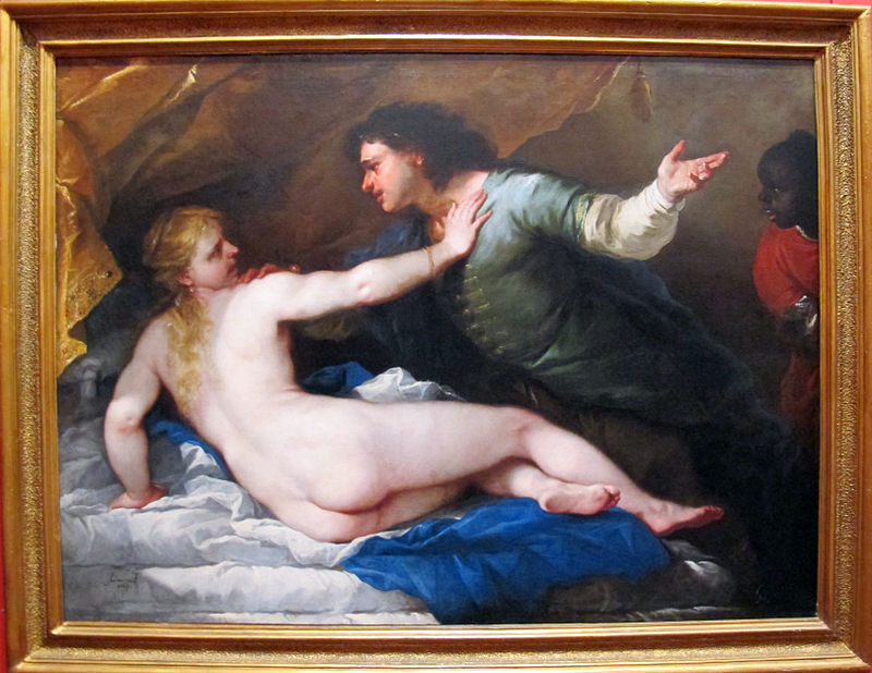 "Luca Giordano, ""Le viol de Lucrèce"", Museo di Capodimonte, Naples, 1663 (source : Wikimedia Commons, par Sailko —  licence Creative Commons Attribution-Share Alike 3.0)"