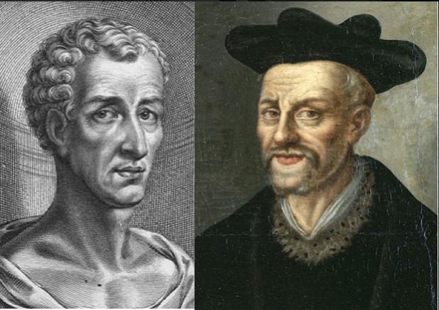 Lucien de Samosate et François Rabelais (sources : Wikipédia).